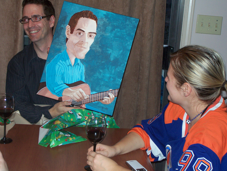 Rob with painting